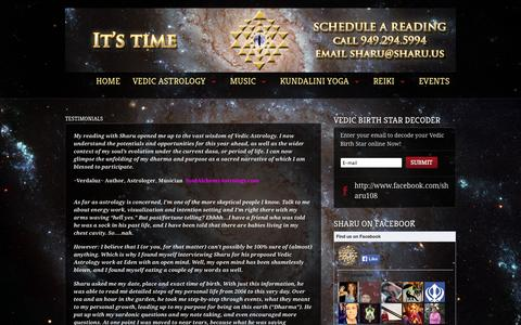 Screenshot of Testimonials Page sharu.us - www.Sharu.us  |  Testimonials - captured Oct. 4, 2014