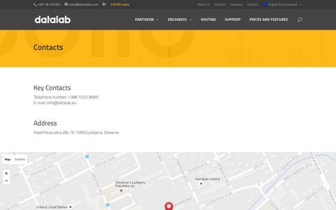 Screenshot of Contact Page datalab.eu - Contact | Datalab - captured Aug. 1, 2016