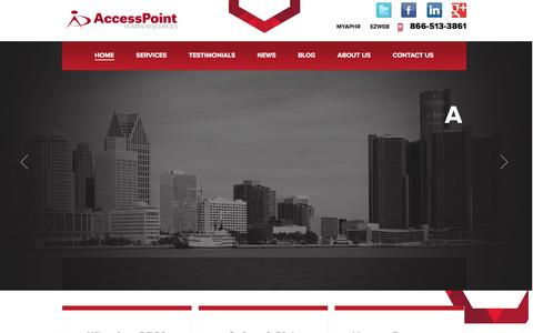 Screenshot of Testimonials Page accesspointhr.com - AccessPoint | Human Resources Management & Services - captured Nov. 20, 2016