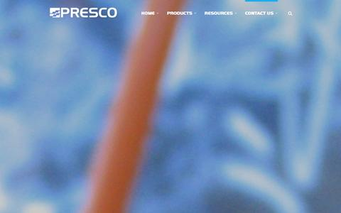 Screenshot of Contact Page presco.com - Contact Us | Presco :: Manufacturer of Marking Products and Engineered Films - captured Jan. 31, 2016
