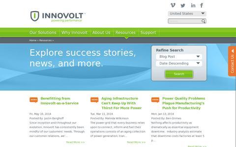 Screenshot of Blog innovolt.com - Resources | Innovolt - captured July 19, 2014