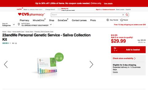23andMe Personal Genetic Service - Saliva Collection Kit - CVS.com