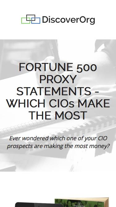 Fortune 500 Proxy Statements: Which CIOs Make the Most? | DiscoverOrg