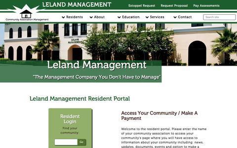 Screenshot of Login Page lelandmanagement.com - Leland Management - captured July 1, 2018