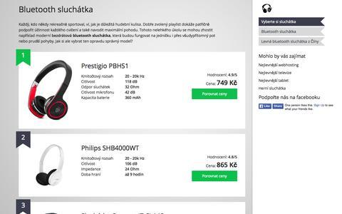 Screenshot of Home Page bluetooth-sluchatka.cz - Nejlepší bluetooth sluchátka 2015 - captured Sept. 11, 2015