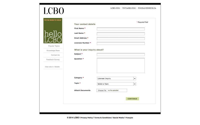helloLCBO | Contact Us