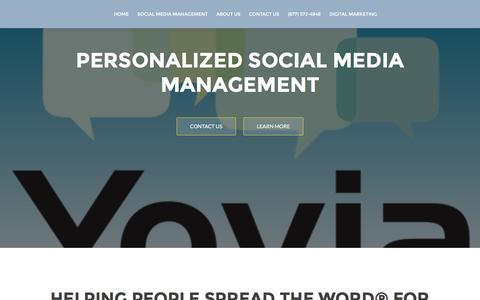 Screenshot of Home Page yovia.com - Yovia Social - captured Sept. 3, 2016