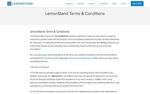 Terms And Conditions | LemonStand