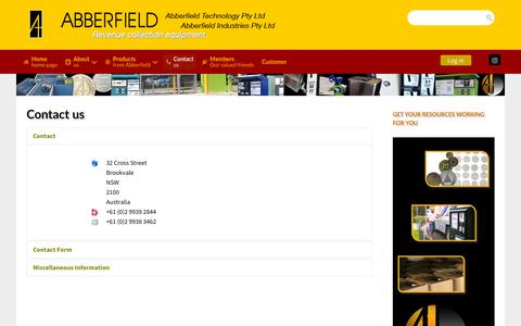 Screenshot of Contact Page abberfield.com.au - Contact Abberfield Industries - Abberfield Industries Pty Ltd - captured Oct. 2, 2018