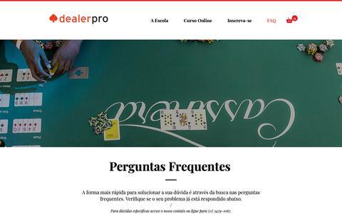 Screenshot of FAQ Page dealerpro.com.br - Dealer Pro | FAQ - captured Sept. 27, 2018