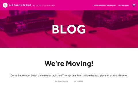 Screenshot of Blog bigroomstudios.com - Blog Ľ Big Room Studios - captured Jan. 3, 2016