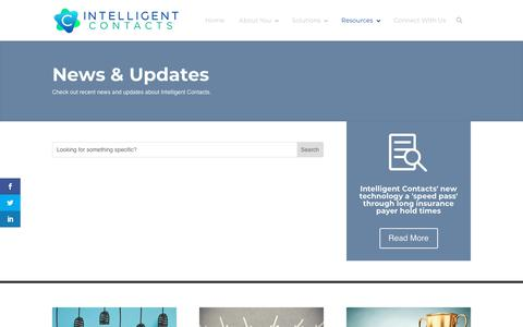 Screenshot of Press Page intelligentcontacts.com - News - Intelligent Contacts - captured Sept. 19, 2018
