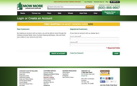 Screenshot of Login Page mowmore.com - Customer Login - captured Oct. 26, 2014