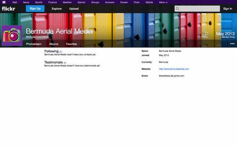 Screenshot of Flickr Page flickr.com - Flickr: Bermuda Aerial Media - captured Oct. 23, 2014