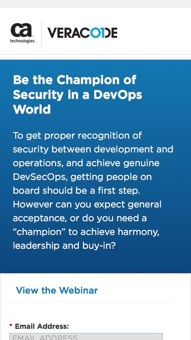 Be the Champion of Security in a DevOps World   Veracode