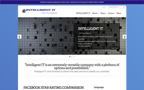 Screenshot of Home Page Site Map Page intelligent-it.asia - Intelligent IT - ... the IT you deserve - captured Oct. 6, 2014