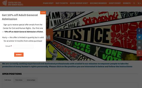 Screenshot of Jobs Page civilandhumanrights.org - Careers | Center for Civil and Human Rights - captured Nov. 8, 2018