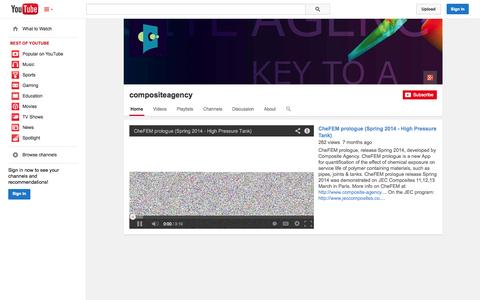 Screenshot of YouTube Page youtube.com - compositeagency  - YouTube - captured Oct. 22, 2014