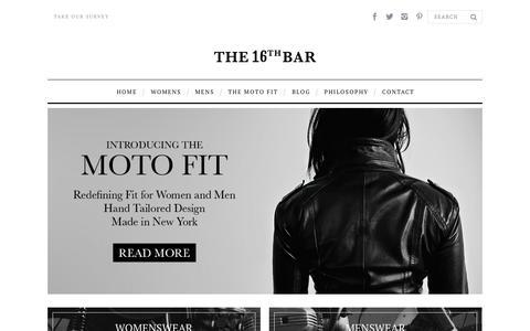Screenshot of Home Page the16thbar.com - Luxury Womenswear & Menswear New York City-The 16th BarThe 16th Bar - captured Oct. 7, 2014
