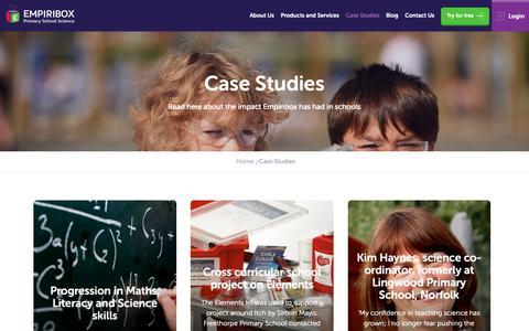 Screenshot of Case Studies Page empiribox.com - Case Studies | Empiribox - captured Dec. 14, 2018