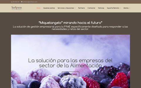 Screenshot of Home Page sofesco.com - Sofesco | - captured Jan. 11, 2016
