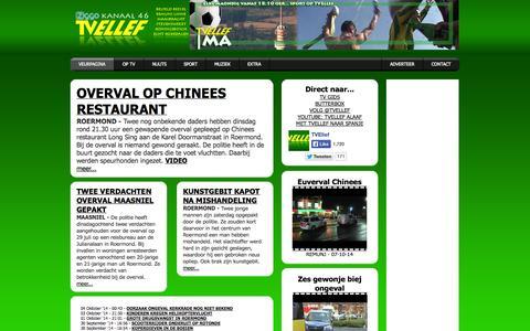 Screenshot of Home Page tvellef.nl - TV Ellef Limburg - Nieuws- en Sportrapportages vanuit Roermond - captured Oct. 9, 2014