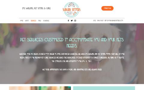 Screenshot of Services Page yoursuburbsitters.com - Services | Dog Walking,Pet Sitting & Care | Cypress, Texas - captured Oct. 19, 2018