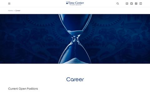 Screenshot of Jobs Page timecenter.jo - Career   Time Center - captured June 17, 2017