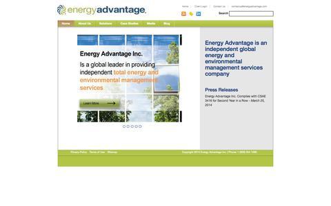 Screenshot of Terms Page energyadvantage.com - Sustainability & Energy Management Blog | energy exchange - captured Sept. 30, 2014