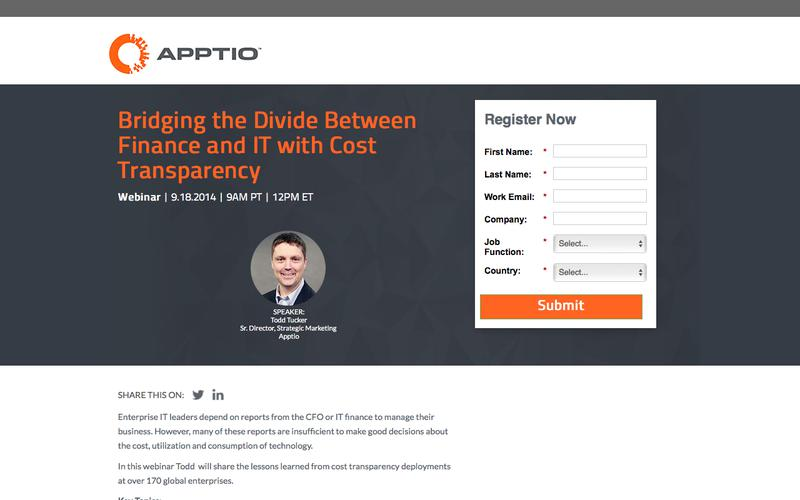Webinar: Bridging the Divide Between Finance and IT with Cost Transparency