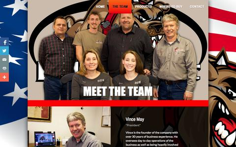 Screenshot of Team Page bulldogmanufacturing.com - The Team - captured Sept. 30, 2014