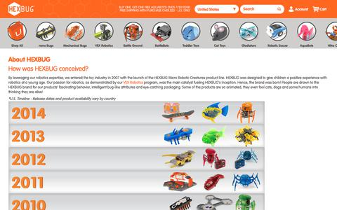 Screenshot of About Page hexbug.com - About HEXBUG  | HEXBUG - captured July 14, 2018