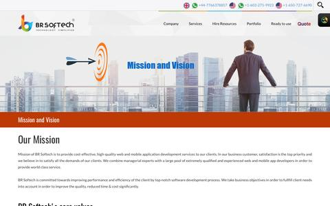 Our Mission and Vision - BR Softech