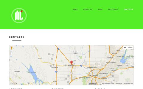 Screenshot of Contact Page mycalidesigns.com - Contacts - captured Oct. 6, 2014