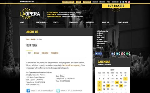 Screenshot of Team Page laopera.org - LA Opera | Our Team - captured May 11, 2017