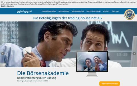 Screenshot of Home Page trading-house.net - trading-house.net AG - captured Feb. 16, 2016