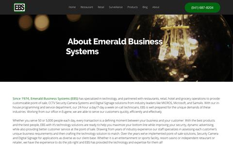 Screenshot of About Page ebs4pos.com - About - Emerald Business Systems - captured Nov. 6, 2016