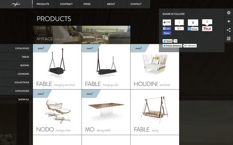 Screenshot of Products Page myface.com.pt - Products - Myface / Outdoor Furniture Design - captured Sept. 23, 2014