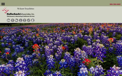 Screenshot of Services Page hollerbach.com - Title Search Company San Antonio | Hollerbach and Associates - captured Sept. 29, 2018