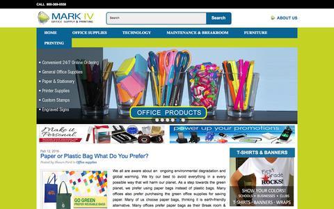 Screenshot of Blog mark4os.com - Mark IV Office Supply and Printing Blog | - captured Feb. 12, 2016