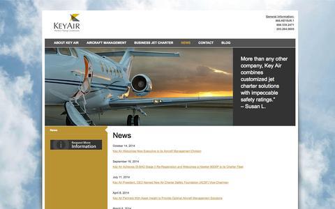 Screenshot of Press Page keyair.com - News | Key Air - captured Oct. 27, 2014