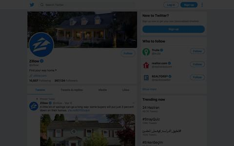 Tweets by Zillow (@zillow) – Twitter