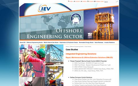 Screenshot of Case Studies Page iev-group.com - Case Studies » IEV Group - captured July 11, 2017