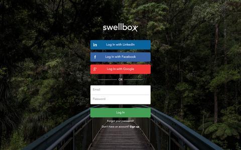 Screenshot of Login Page swellbox.com - Swellbox Sign in - captured Jan. 12, 2016