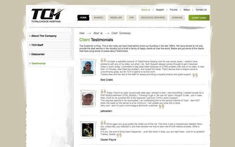 Screenshot of Testimonials Page totalchoicehosting.com - Testimonials | Totalchoice Hosting - captured June 24, 2017