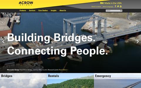 Screenshot of Home Page acrow.com - Acrow Corporation of America - captured Feb. 23, 2018