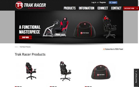 Screenshot of Products Page trakracer.com.au - Trak Racer Products - captured Sept. 30, 2014