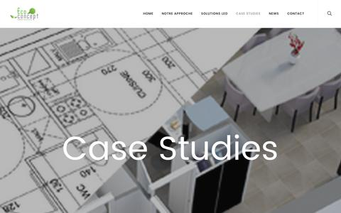 Screenshot of Case Studies Page ecoconceptsolutions.be - Case Studies – eco concept - captured Nov. 15, 2016