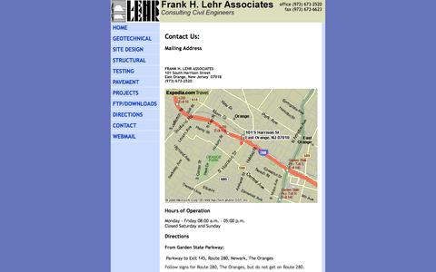 Screenshot of Contact Page Maps & Directions Page fhlehr.com - Contact Us - captured Oct. 23, 2014