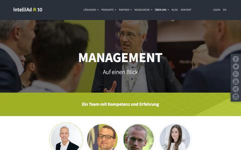 Screenshot of Team Page intelliad.de - intelliAd Management - captured June 21, 2017